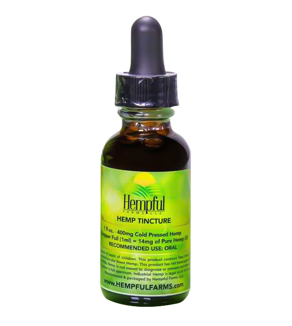 Hemp 400mg Cold Press Tincture