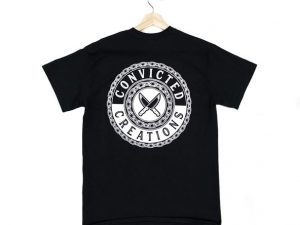Convicted creations tshirt in black