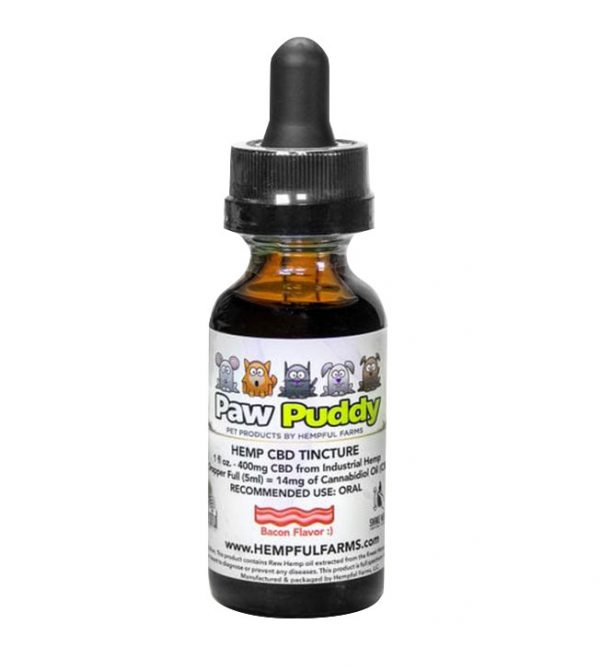 CBD pet tincture - bacon flavor