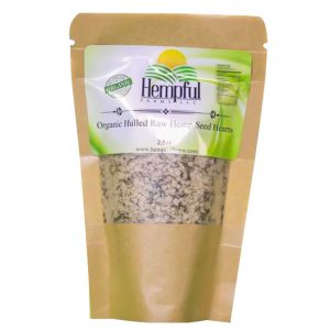 100% organic hulled hemp seeds