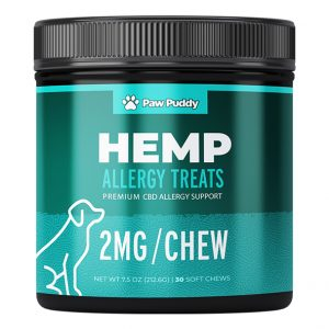 Paw Puddy CBD allergy treats for dogs